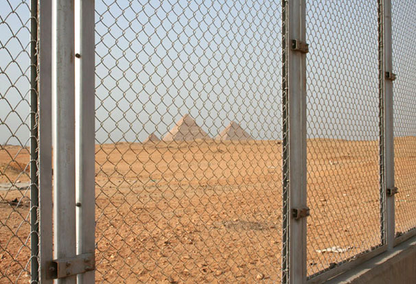 perimeter fence with alarm system