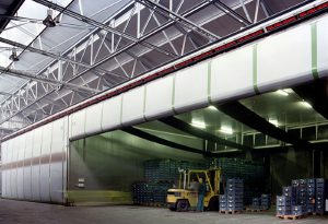 warehouse with cladding